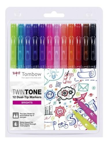 Twin Tone Stifte Set Bright Colors