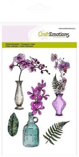 Clearstamps Orchidee mit Vase