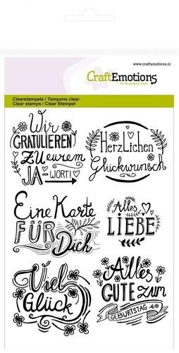 Clearstamps Liebe Worte